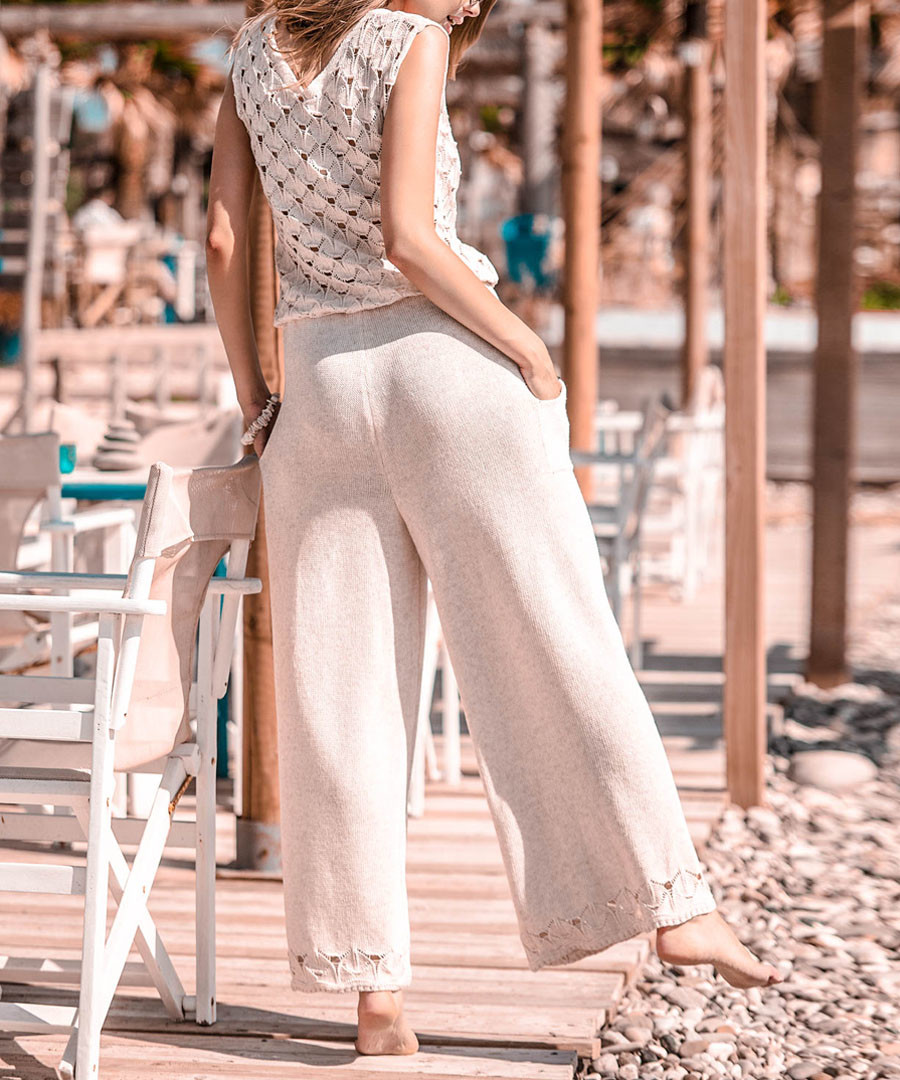 Ecru cotton blend jumpsuit Sale - fobya