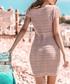 Pink powder mesh tie-waist dress Sale - fobya Sale