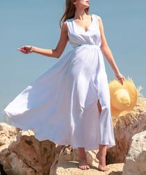 White side-split maxi dress