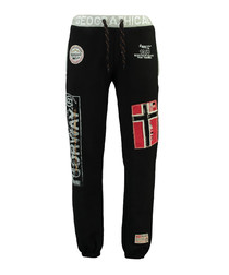 Myer black graphic tracksuit bottoms