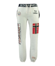 Myer white graphic tracksuit bottoms