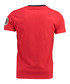 Jilitary red pure cotton V-neck T-shirt Sale - geographical norway Sale