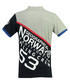 Kanoe grey & navy pure cotton polo top Sale - geographical norway Sale