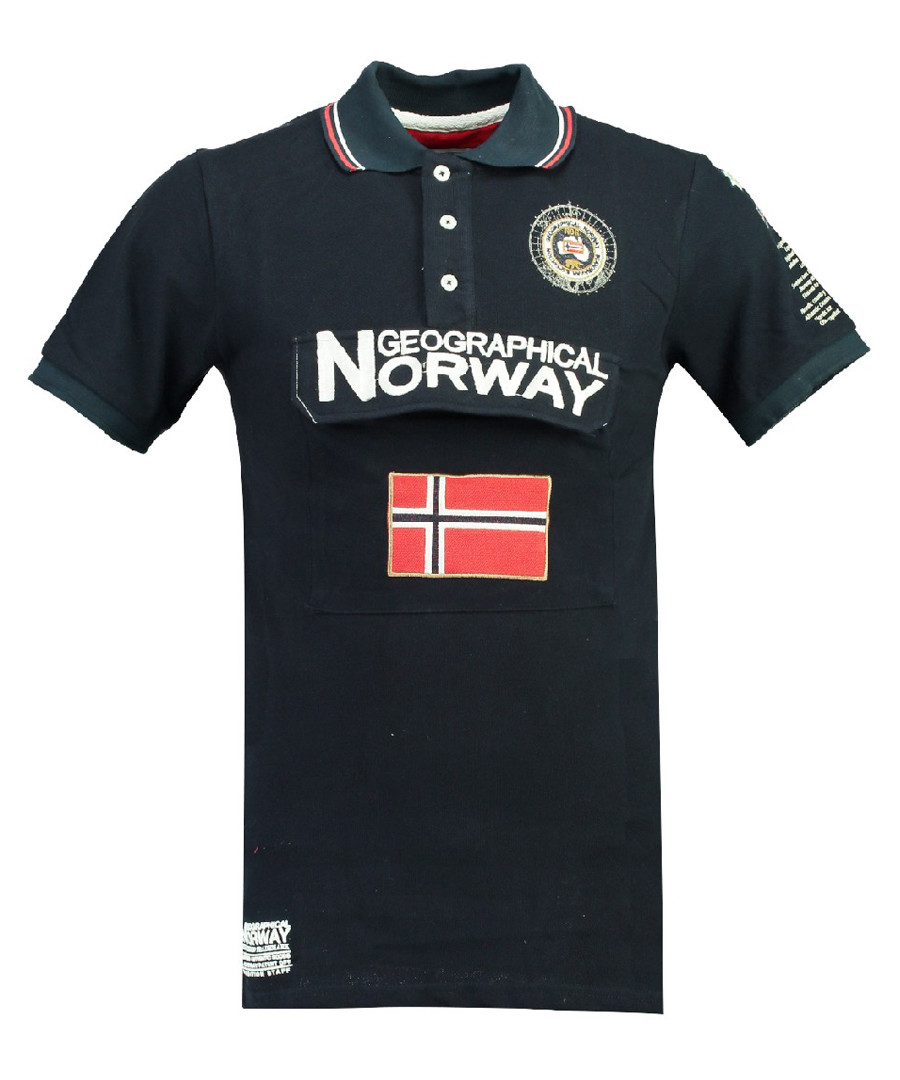 Kayfour navy pure cotton polo top Sale - geographical norway