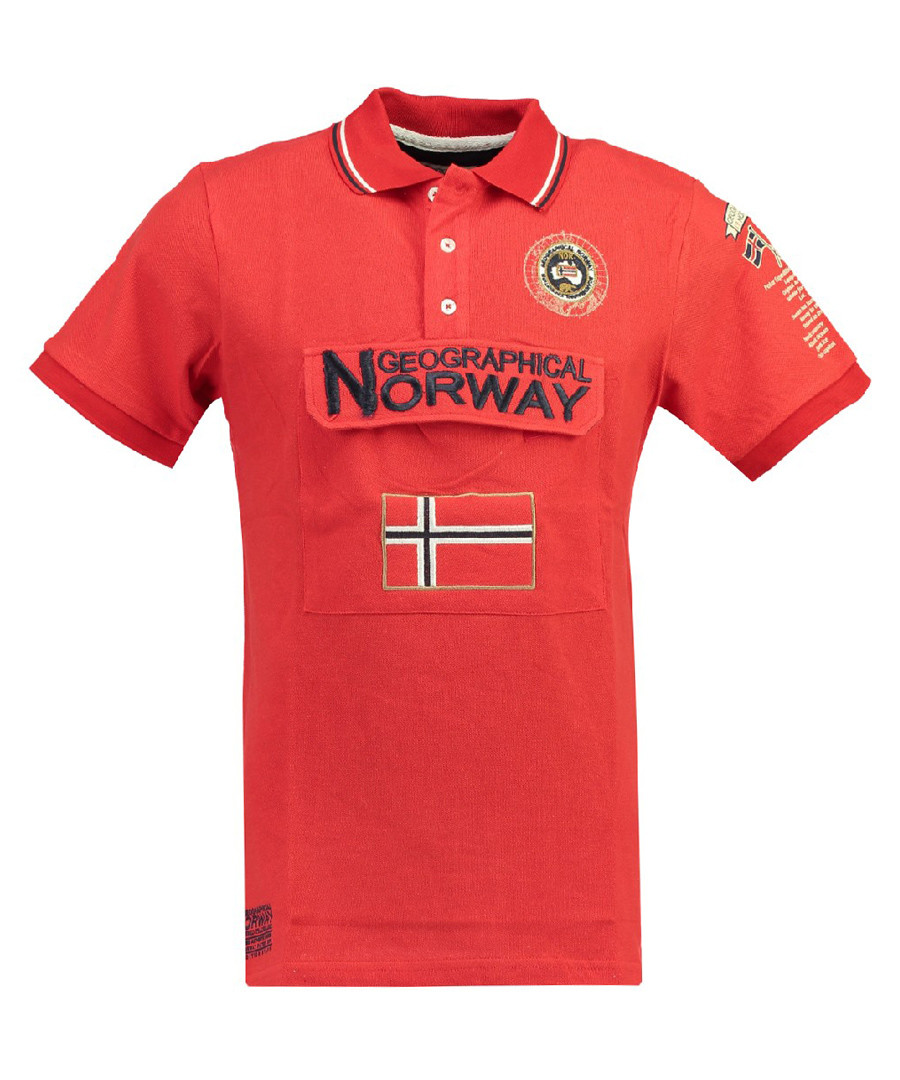 Kayfour red pure cotton polo top Sale - geographical norway
