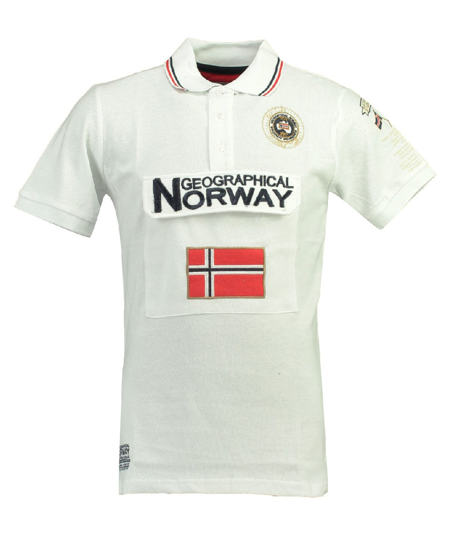 Kayfour white pure cotton polo top Sale - geographical norway