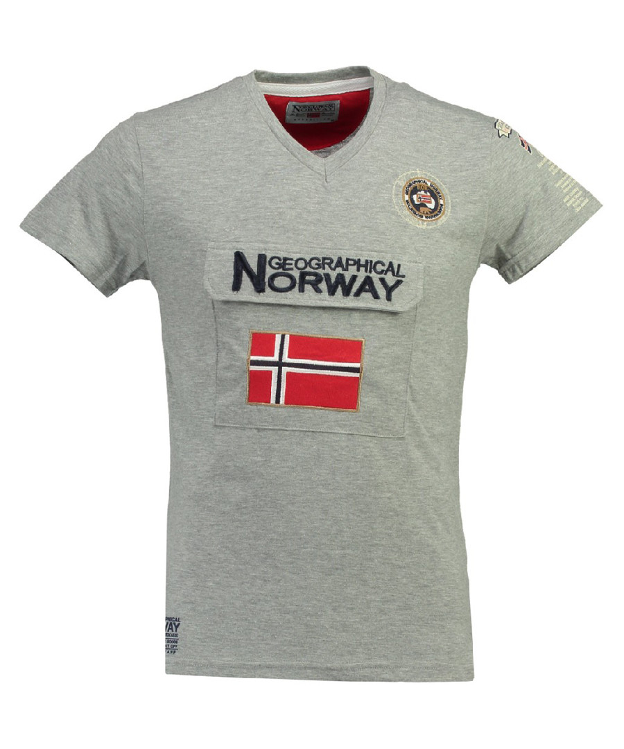 Jayfour grey pure cotton polo top Sale - geographical norway