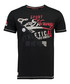 Jeal black pure cotton print T-shirt Sale - geographical norway Sale