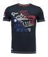 Jeal navy pure cotton print T-shirt Sale - geographical norway Sale