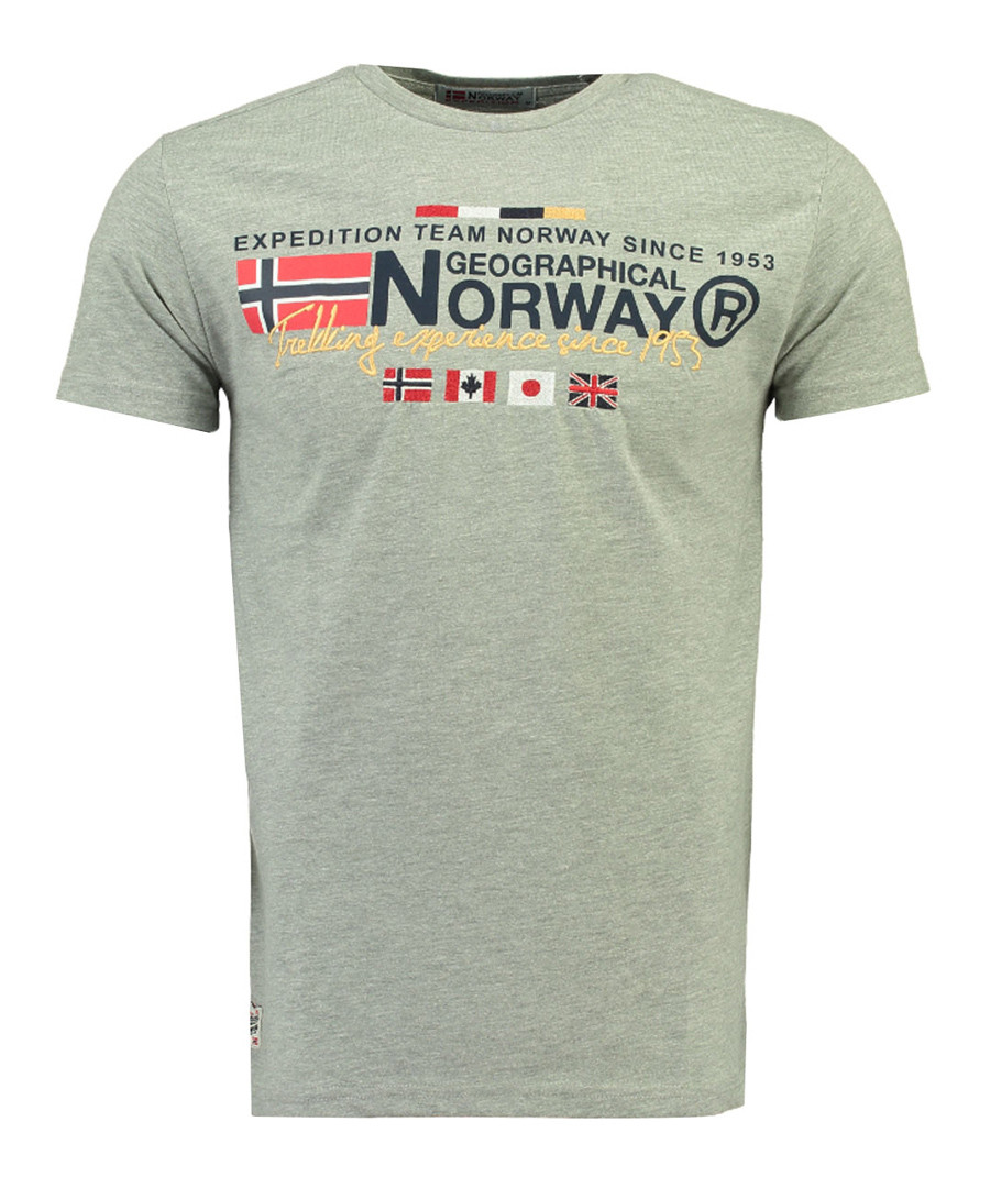 Javiator grey pure cotton logo shirt Sale - geographical norway