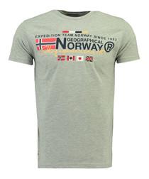Javiator grey pure cotton logo shirt