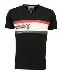 Jeddy black pure cotton print T-shirt
