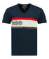 Jeddy navy pure cotton print T-shirt Sale - geographical norway Sale