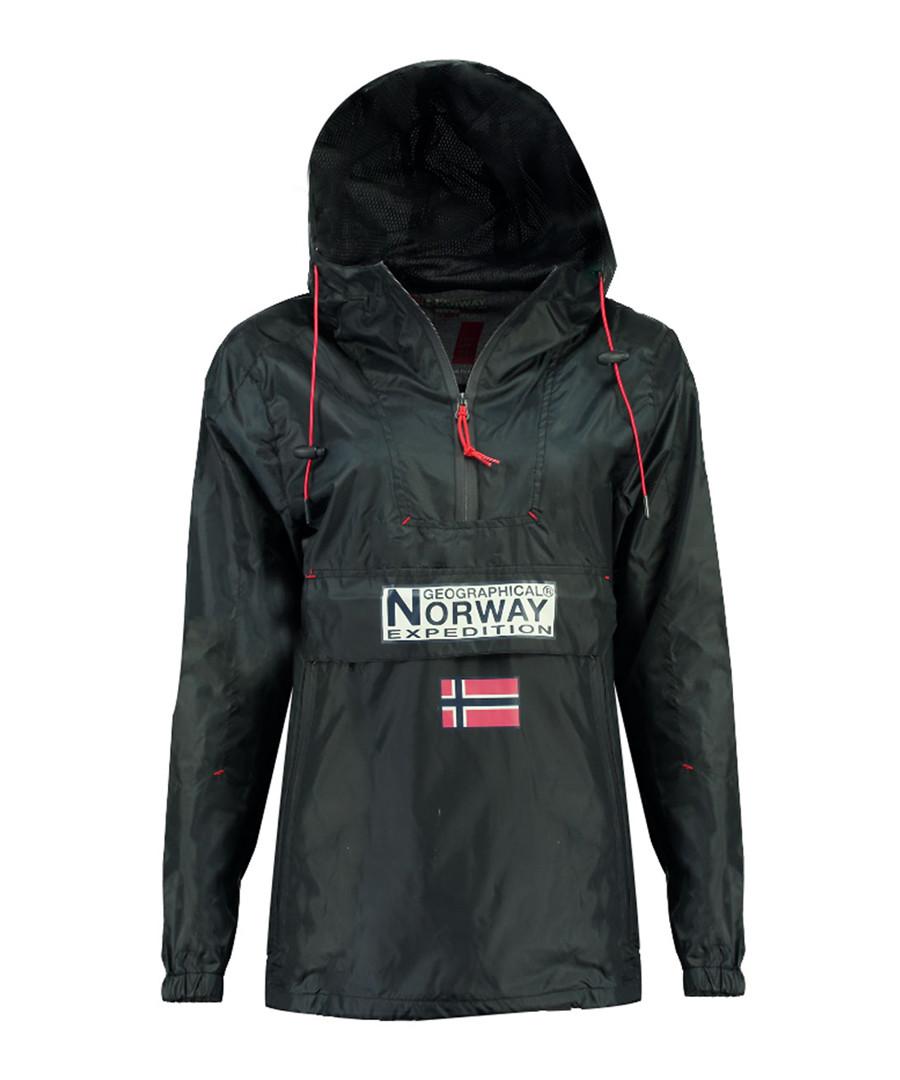 Downcity navy logo rain coat Sale - geographical norway