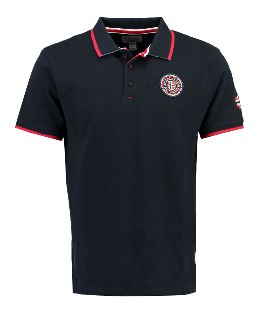 Kalway navy pure cotton polo shirt Sale - geographical norway
