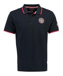Kalway navy pure cotton polo shirt