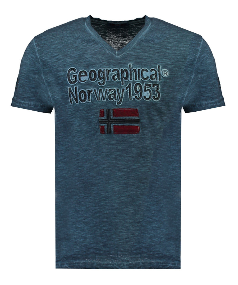 Jimdo blue pure cotton print top Sale - geographical norway