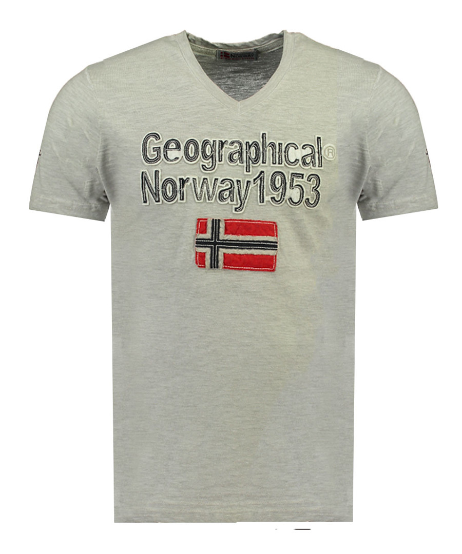 Jimdo grey pure cotton printed top Sale - geographical norway