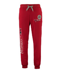 Magraf red print tracksuit bottoms