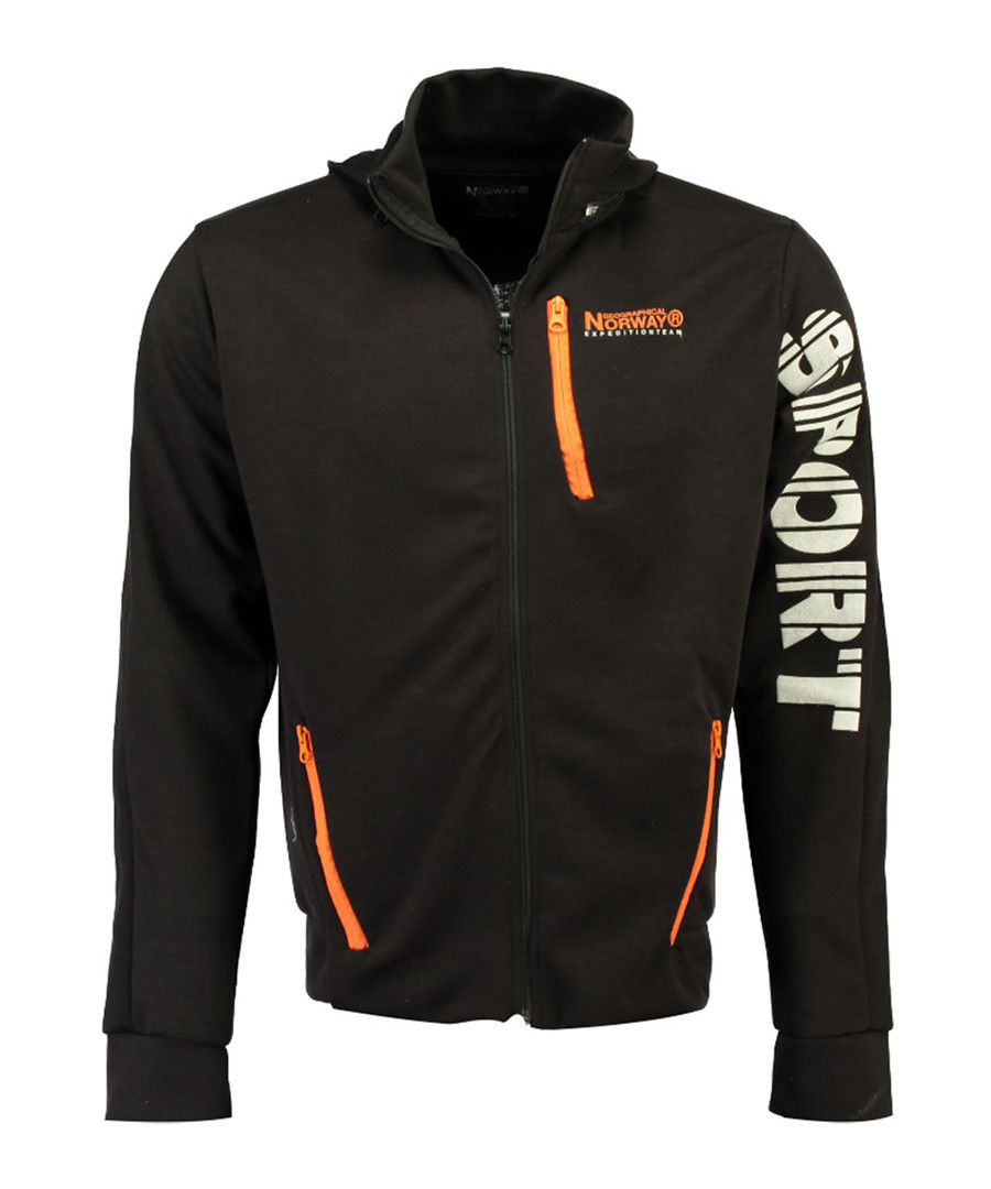 Guniort black sport hoodie Sale - geographical norway