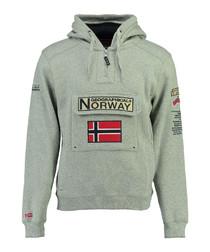 Gymclass grey logo hoodie