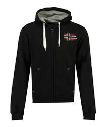 Glacier black flag print hoodie