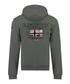 Glacier dark grey zip-up hoodie Sale - geographical norway Sale