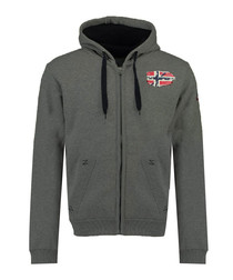Glacier dark grey zip-up hoodie