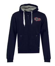 Glacier navy flag print hoodie