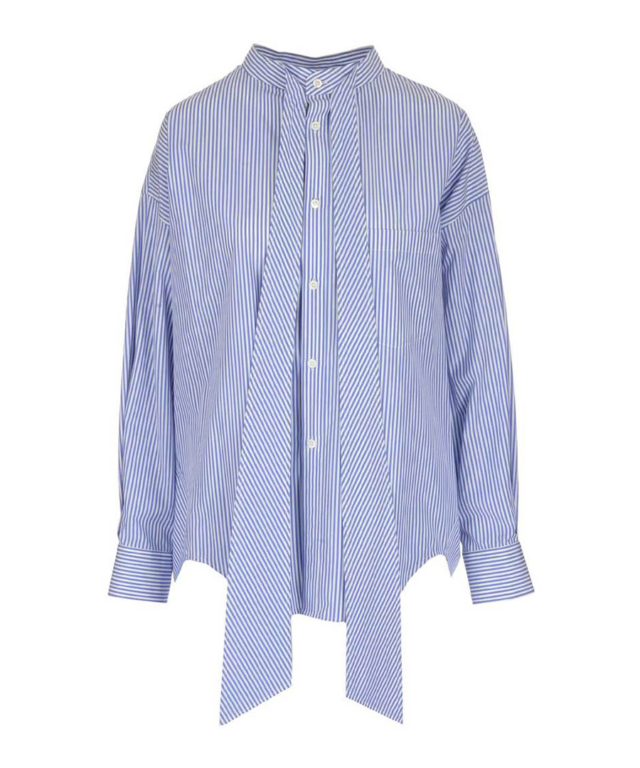 Blue pure cotton button-up shirt Sale - balenciaga