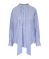 Blue pure cotton button-up shirt Sale - balenciaga Sale