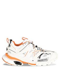 White & orange sneakers