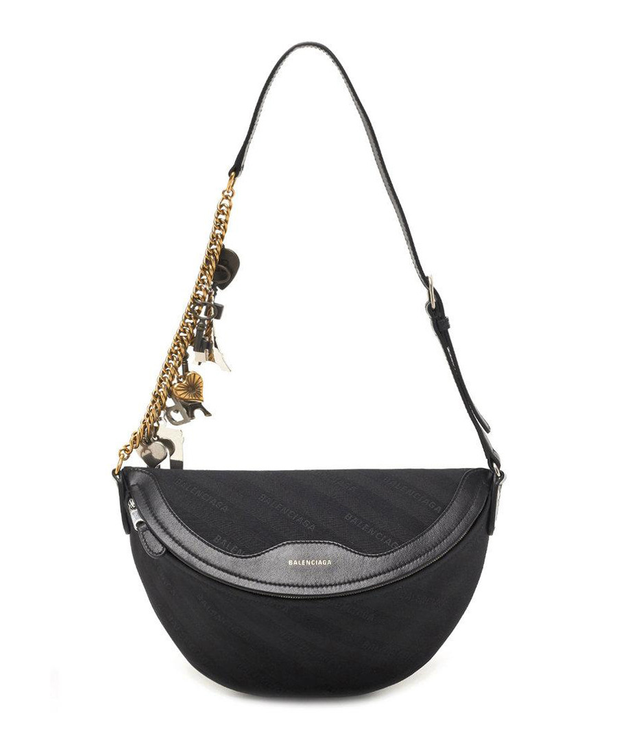 Black leather shoulder bag Sale - balenciaga