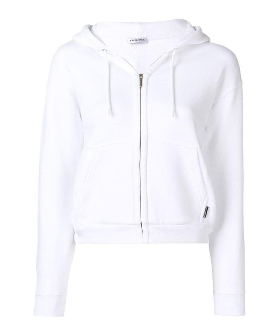 White pure cotton hoodie Sale - balenciaga