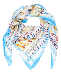 Multi-colour pure silk printed scarf