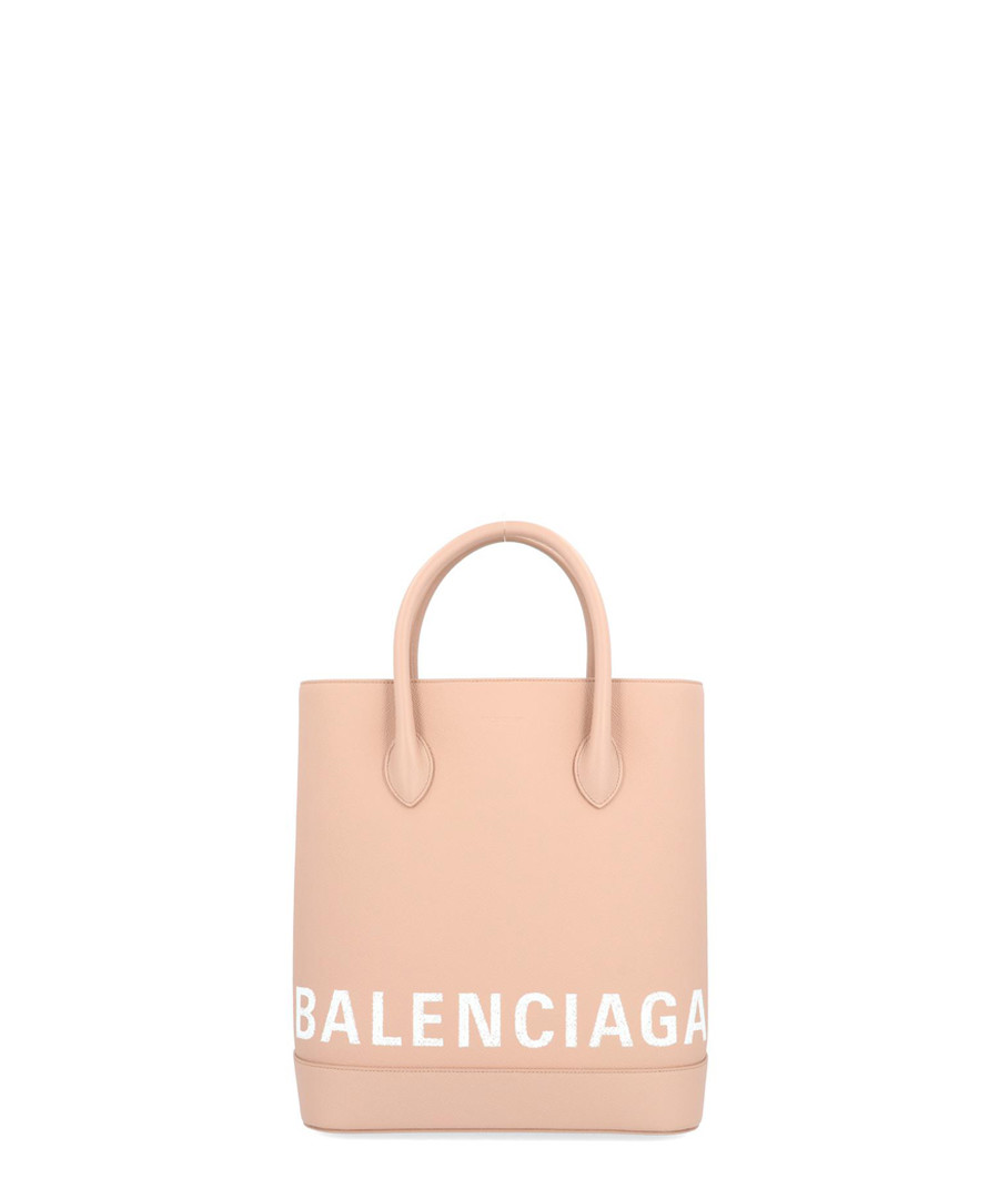 Beige leather logo shopper Sale - balenciaga