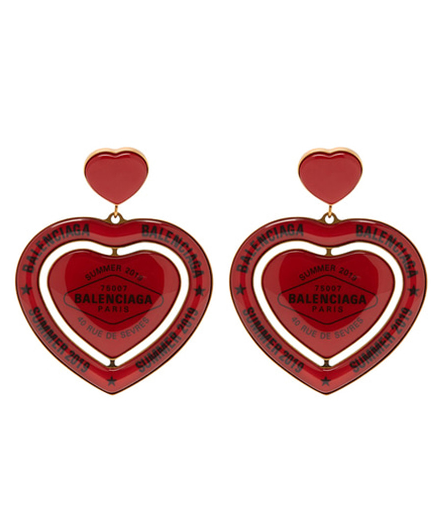 Red heart earrings Sale - balenciaga