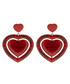 Red heart earrings Sale - balenciaga Sale