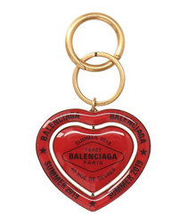Red heart keyring
