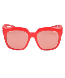 Hybrid red D-frame sunglasses