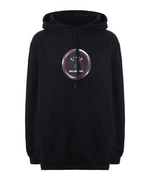 Black pure cotton hoodie