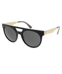 Black & white double-bridge sunglasses