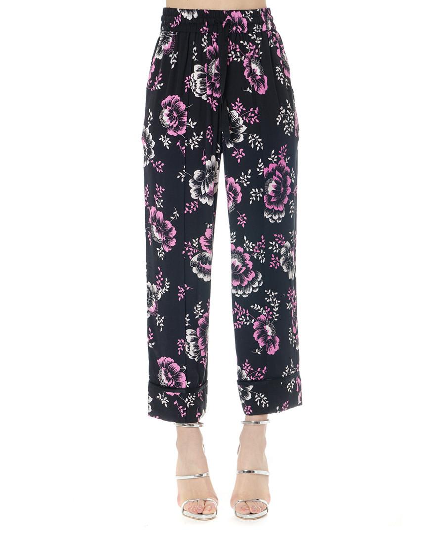 Black floral print trousers Sale - alexander mcqueen
