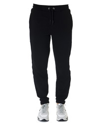 Black pure cotton logo band trousers