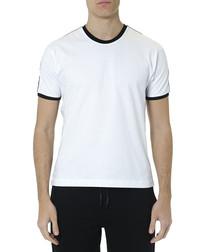 White pure cotton edged T-shirt