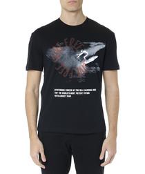 Mysterious Forces black cotton T-shirt