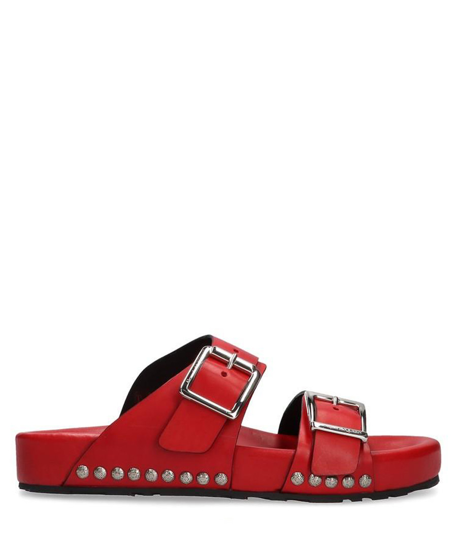 Red studded buckle sandals Sale - alexander mcqueen