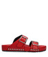 Red studded buckle sandals Sale - alexander mcqueen Sale