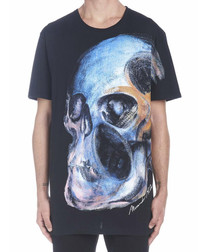 Painted Skull black cotton T-shirt