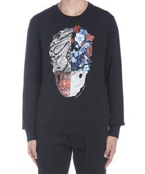 Floral skull print sweatshirt